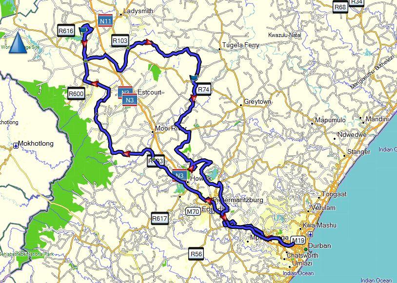 Berg and Battlefields - Adventure Bike Safaris